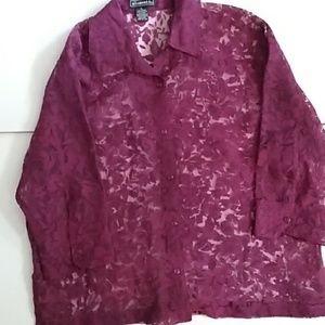 Elementz sheer floral blouse